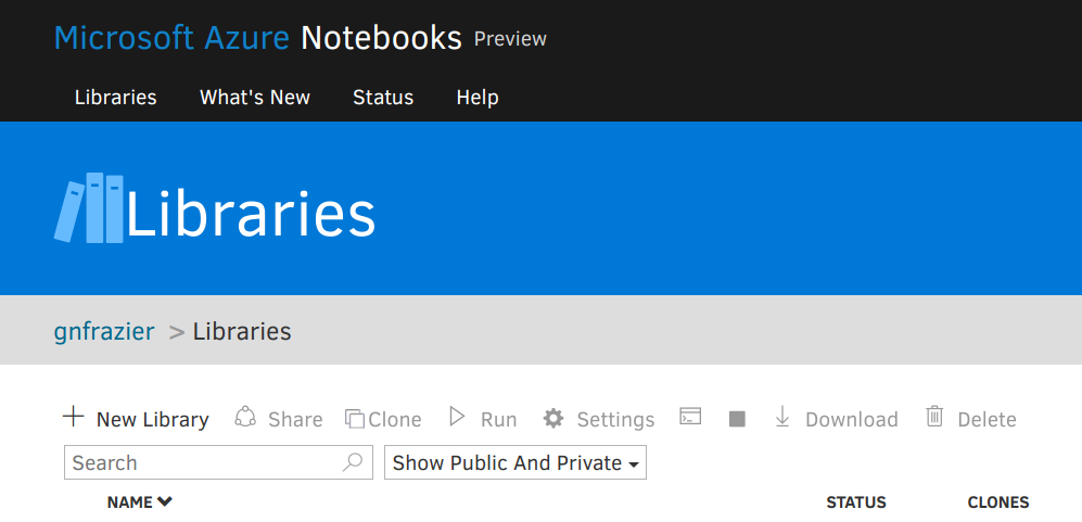 Jupyter Notebooks on Azure – Greg Frazier – I dabble in lots of